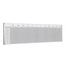 Evighedskalender – Planlægningstavle, 50x200 cm, inkl. magnetbånd