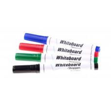 Whiteboardmarker både til whiteboard og flipover i pakke med 4 stk.
