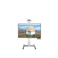 Højdejusterbart mobilt whiteboard-projektorskærm stativ