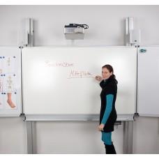Højdejusterbar whiteboard-projektorskærm stativ med sidetavler og fingertouch