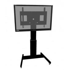 Højdejusterbart mobilt TV og monitor stativ - Sort Stativ