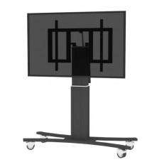 Højdejusterbart mobilt TV og monitor stativ med tilt funktion