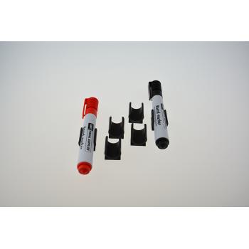 Penneholder single magnetisk 4-pak kun til whiteboardtavler