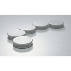 Glastavler Magneter i pakke med 5 stk. hvide