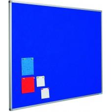 Opslagstavle blå dobbeltsidet 120x150