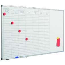 Planlægningstavle - Ugekalender, mål HxB 60x120 cm