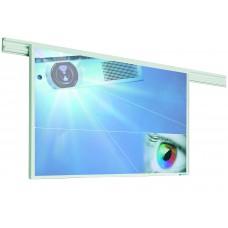 Projektionstavle til vægskinnesystem