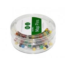 Tegnestifter runde 20 mm - assorteret farver