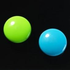 Runde stærke magneter, blå/grøn, 2-pak