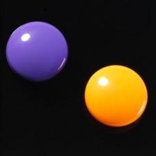 Runde stærke magneter, lilla/orange, 2-pak