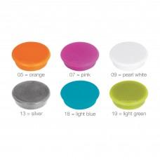 Magneter i 6 farver, pakke med 10 stk. Ø32 mm