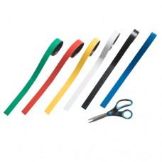 Magnetbånd i 6 forskellige farver, rulle med 30 m