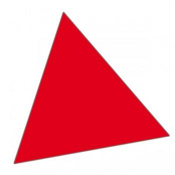 Magnet trekant 1x1 cm (180 stk pr. ark)