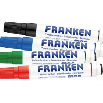 Whiteboardmarker med magnet, pk. med 4 farver