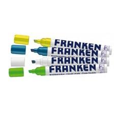 Tusser til glastavler i pakke med 4 farver