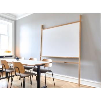 Nordic Stand – designer egetræsstativ med whiteboard, H: 220 cm x B: 145 cm (112 cm x 139 cm)
