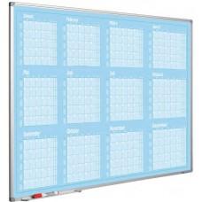 Whiteboardtavle med årskalender 90x120 cm