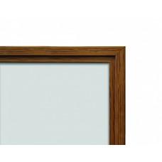 Whiteboard med ramme i trælook, eg