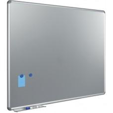 Whiteboard med sølvgrå overflade