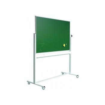 Svingtavle, kridt/whiteboardtavle på mobilt stativ - 8 størrelser