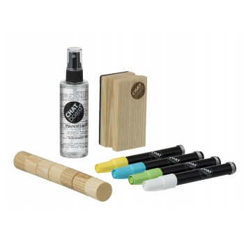 CHAT BOARD Woody Neon Starter Set Natural